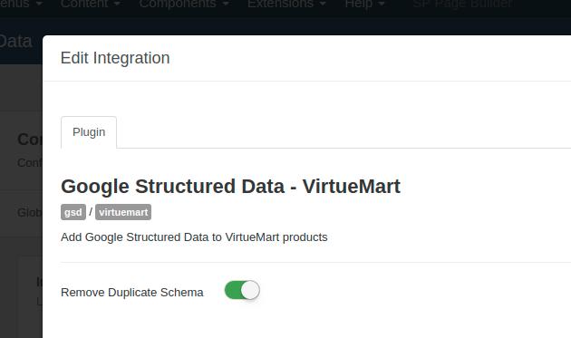 VirtueMart Remove Microdata