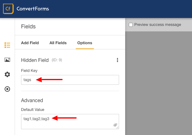 activecampaign convert form fields tags