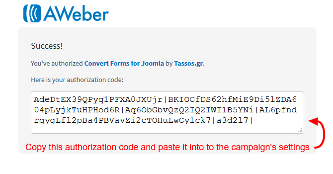 aweber auth code
