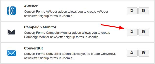 campaign monitor convert forms addon