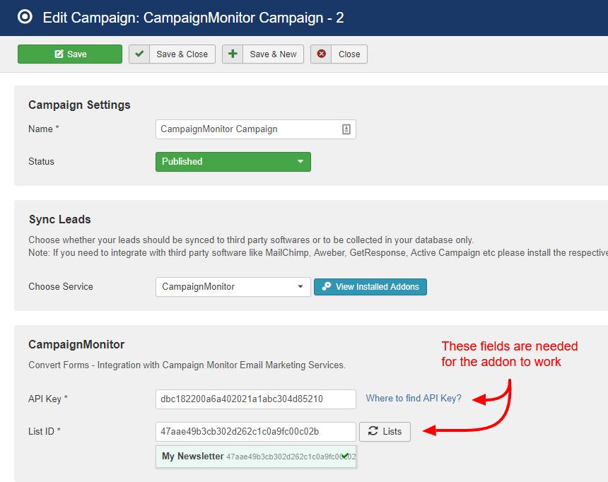 getresponse campaign convert forms
