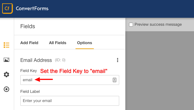 confirm field