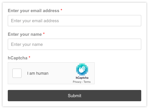convert forms hcapatcha preview
