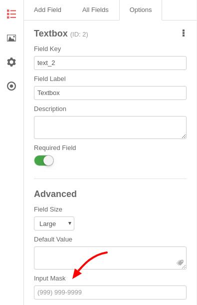 convert forms new input mask