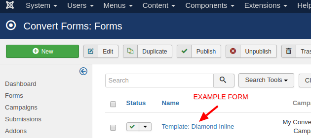 convert forms select a form