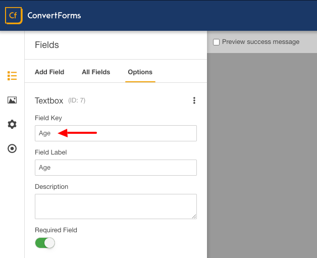 convert forms age field