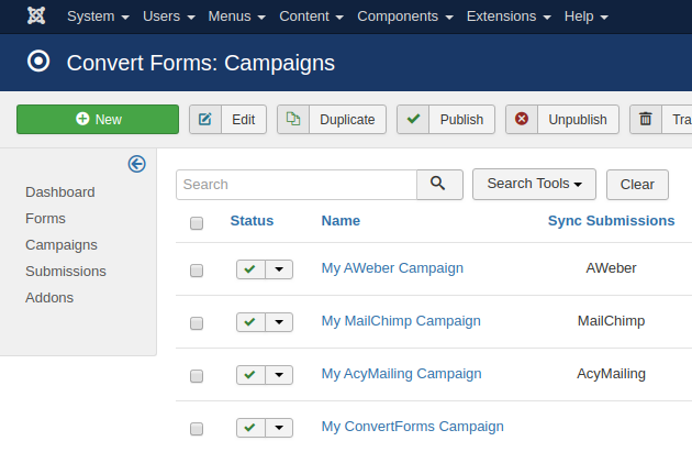 convert forms campaigns