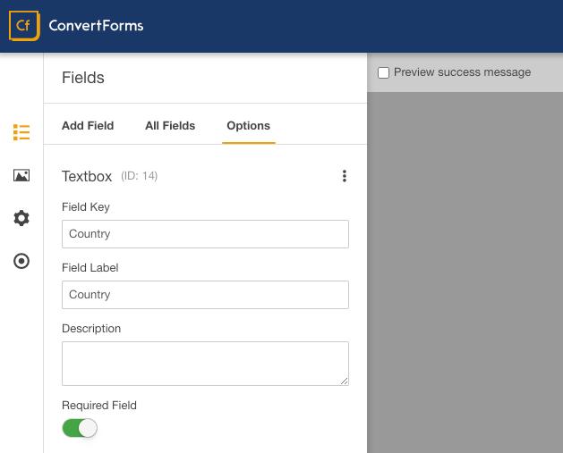sendinblue convert forms custom field country