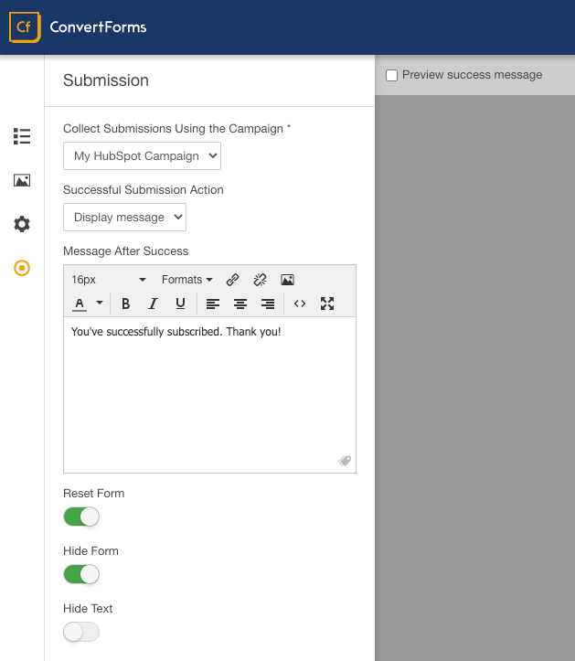 hubspot convert forms assignment