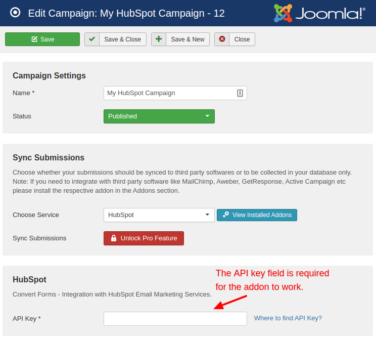 hubspot campaign convert forms