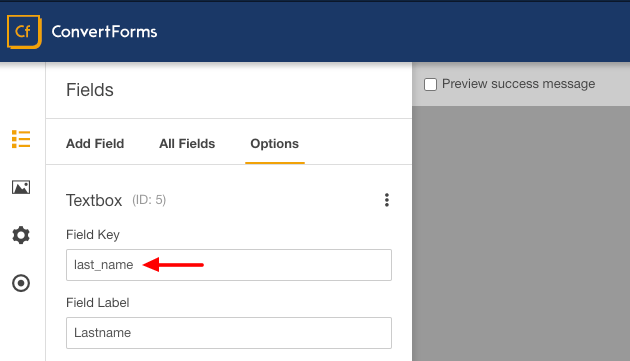 activecampaign convert forms last name field