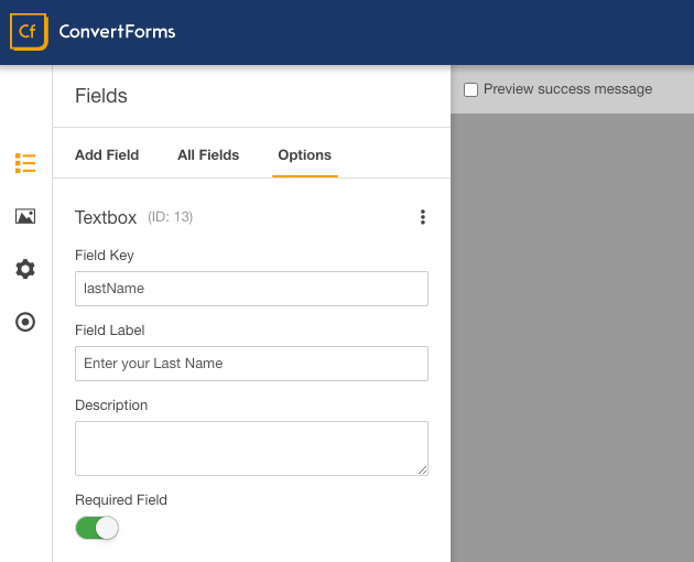 icontact convert forms last name field