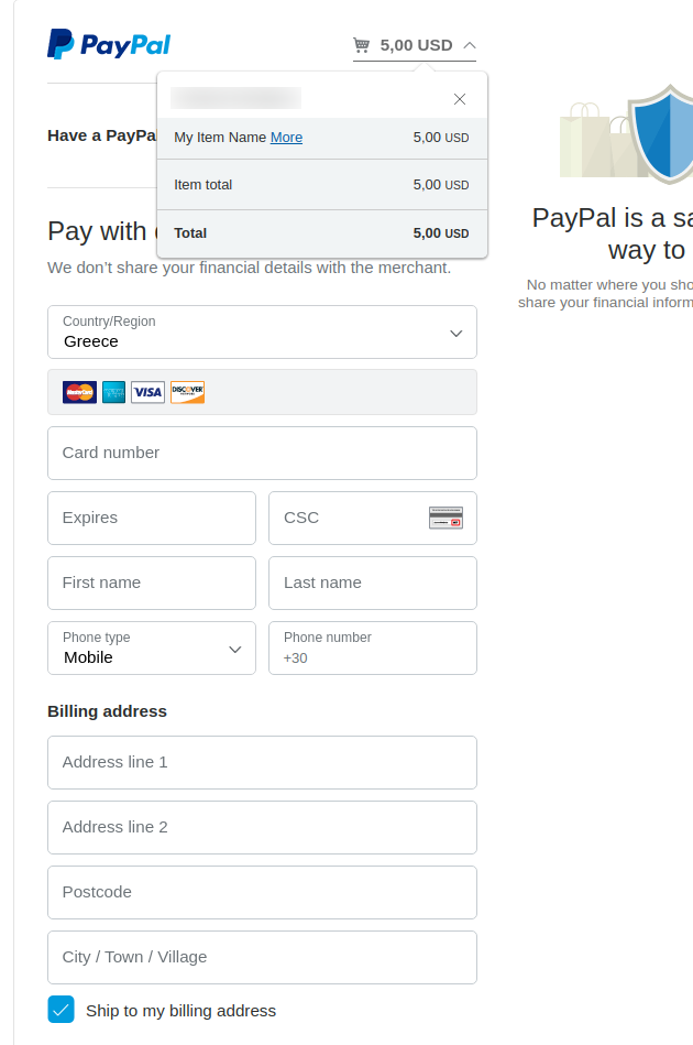 Convert Forms PayPal Payment