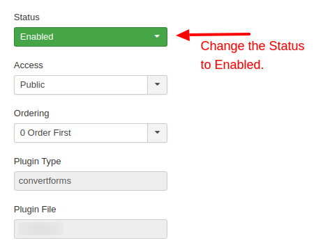 convert forms update plugin status