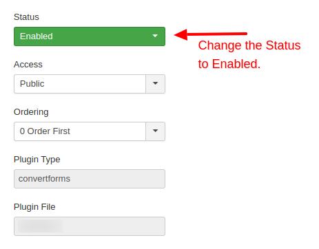 convert forms update plugin status