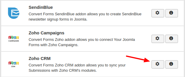 zoho crm convert forms addon