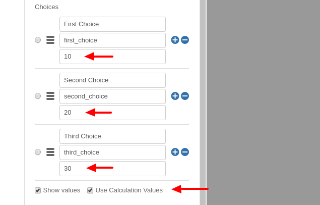 Convert Forms Field Calculation Values