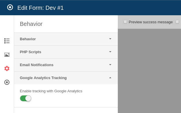 Joomla! Form Builder with Google Analytics Event Tracking Support