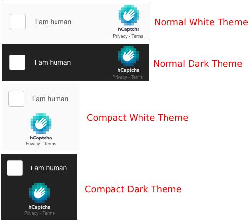 convert forms hcaptcha themes