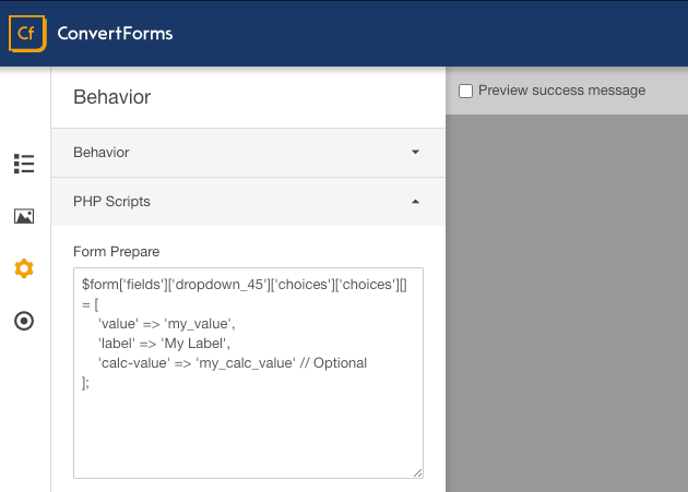 Joomla! Forms with Custom PHP Scripts execution support