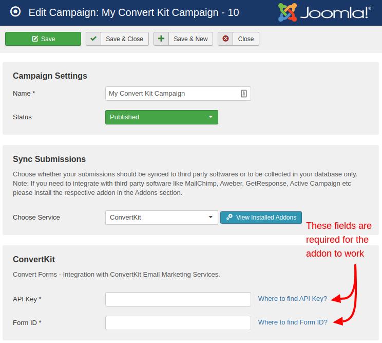 convertkit campaign convert forms