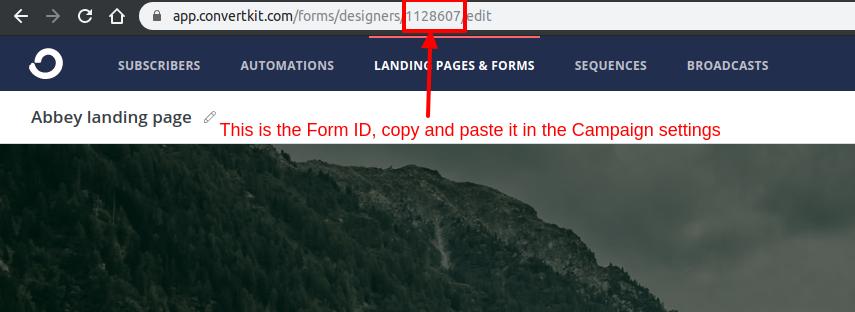 convertkit form id
