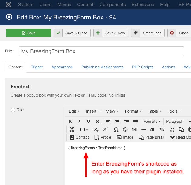 How to use breezing forms with engage box
