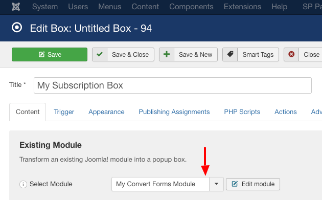 engage box convert form module