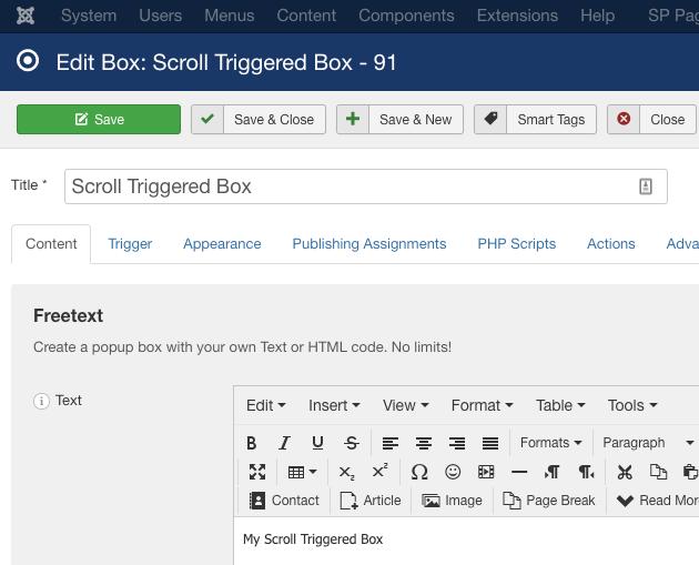 EngageBox Scroll Trigered Box