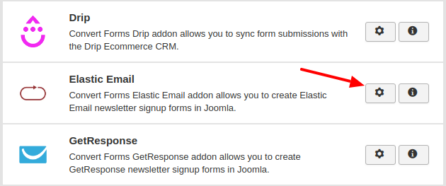 elasticemail convert forms addon