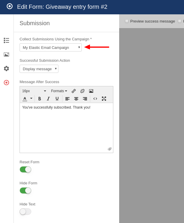 elasticemail convert forms assign