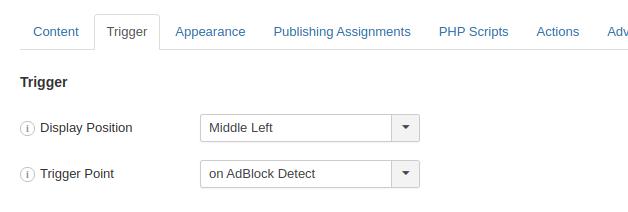 Create an AdBlock Detect popup in Joomla