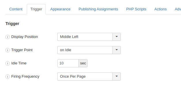 Create an Idle Popup in Joomla