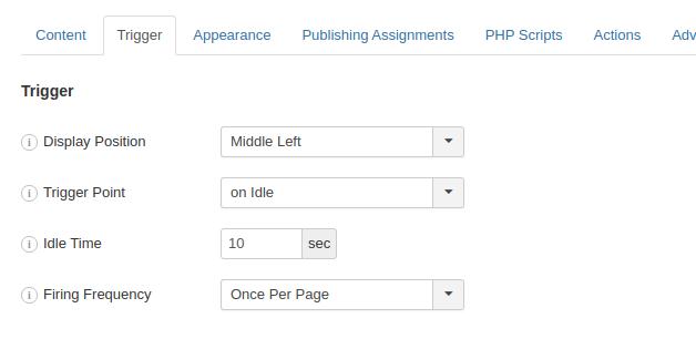 Create an Idle Popup in Joomla