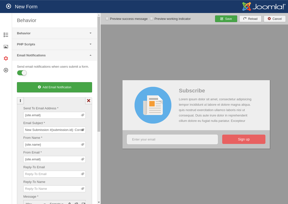 Convert Forms - A Joomla Form Builder that\'s Easy and Powerful