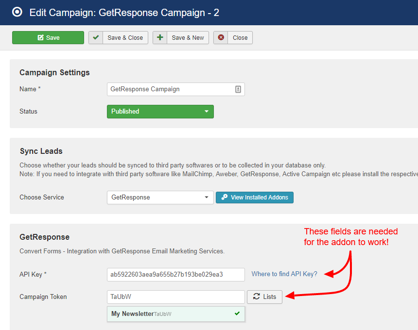 getresponse campaign convert forms