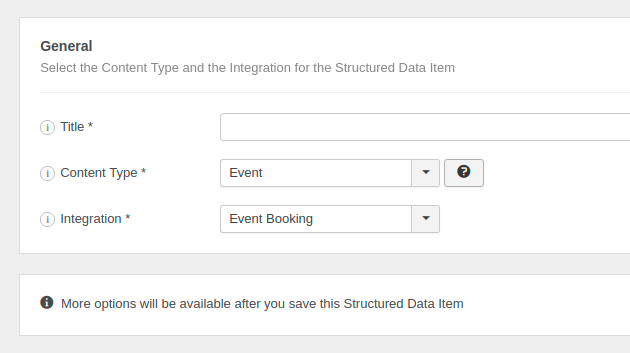 The Event Structured Data