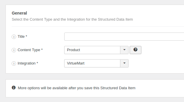 The Product Structured Data