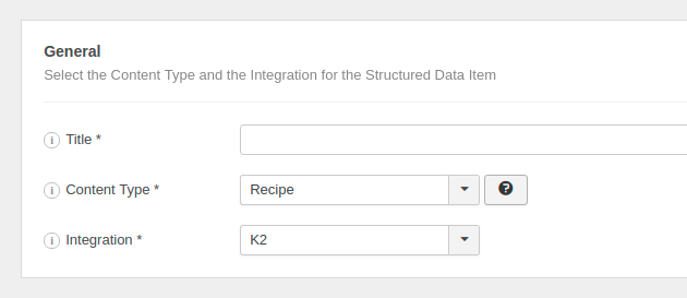 The Recipe Structured Data