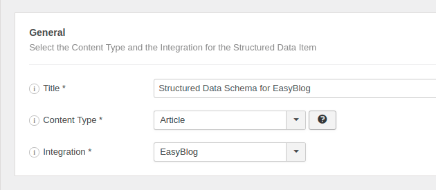 GSD EasyBlog New Item