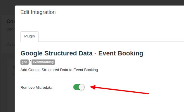 GSD Event Booking Remove Microdata