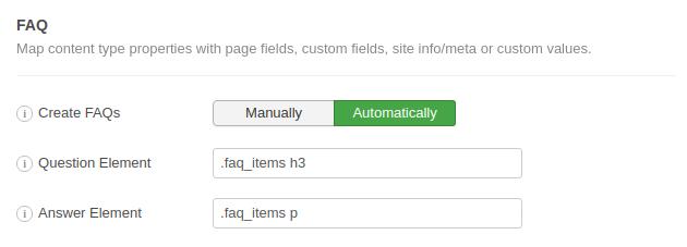 FAQ Schema Example 1 CSS Selectors