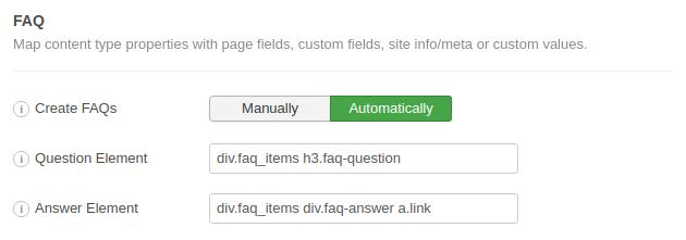 FAQ Schema Example 2 CSS Selectors