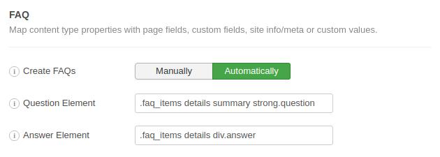 FAQ Schema Example 3 CSS Selectors