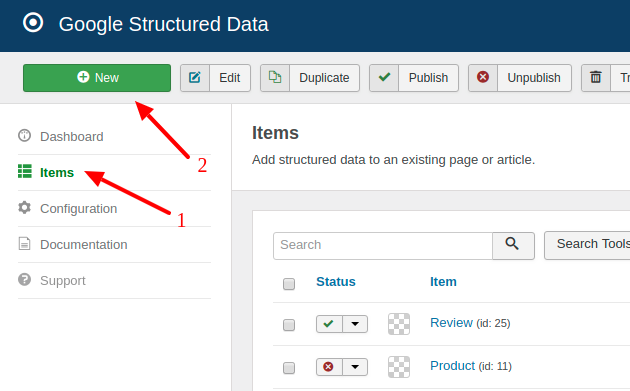 How to markup Joomla Pages with the Recipe Schema