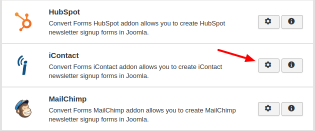 icontact convert forms addon