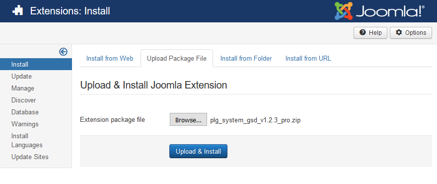 Install Google Structured Data Markup on Joomla