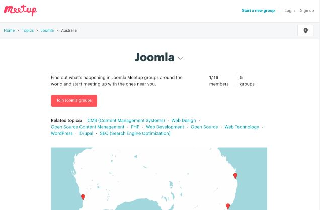 Joomla Meetings and Conferences