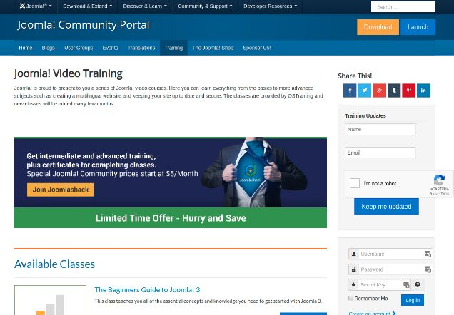 Free Joomla Video Courses