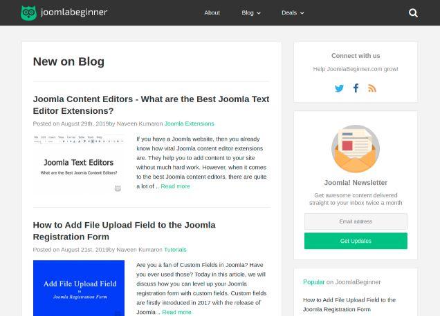 JoomlaBeginner.com - Free Joomla Tutorials
